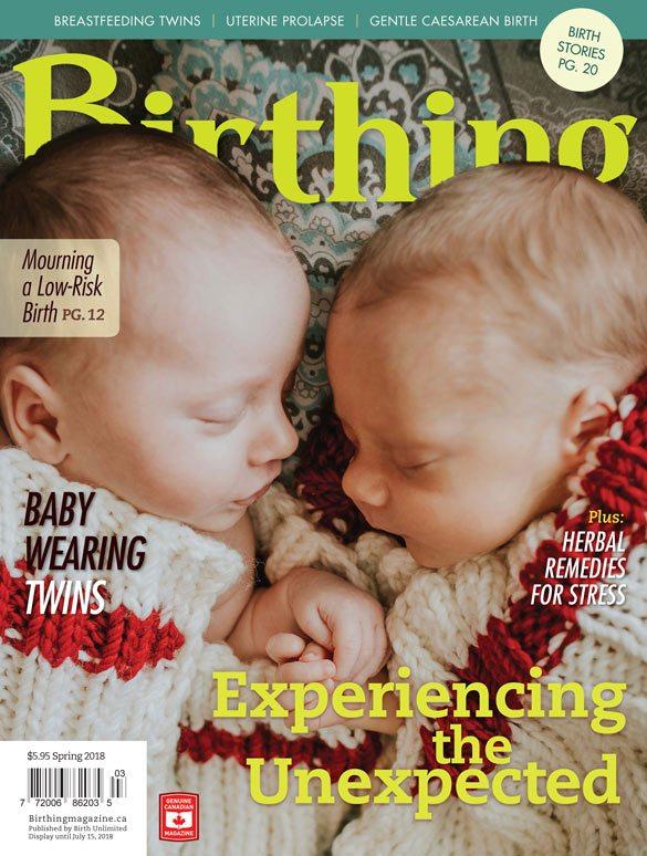Cover of Birthing Magazine (Spring 2018)