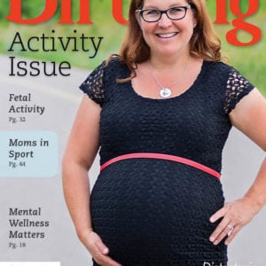 Cover for Birthing Magazine, Summer 2018 issue