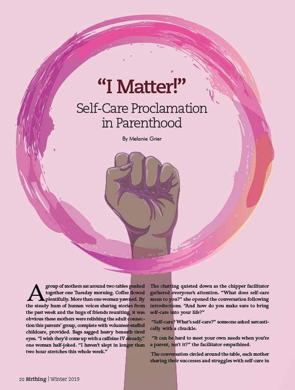 I matter! Self-care proclamation in parenthood