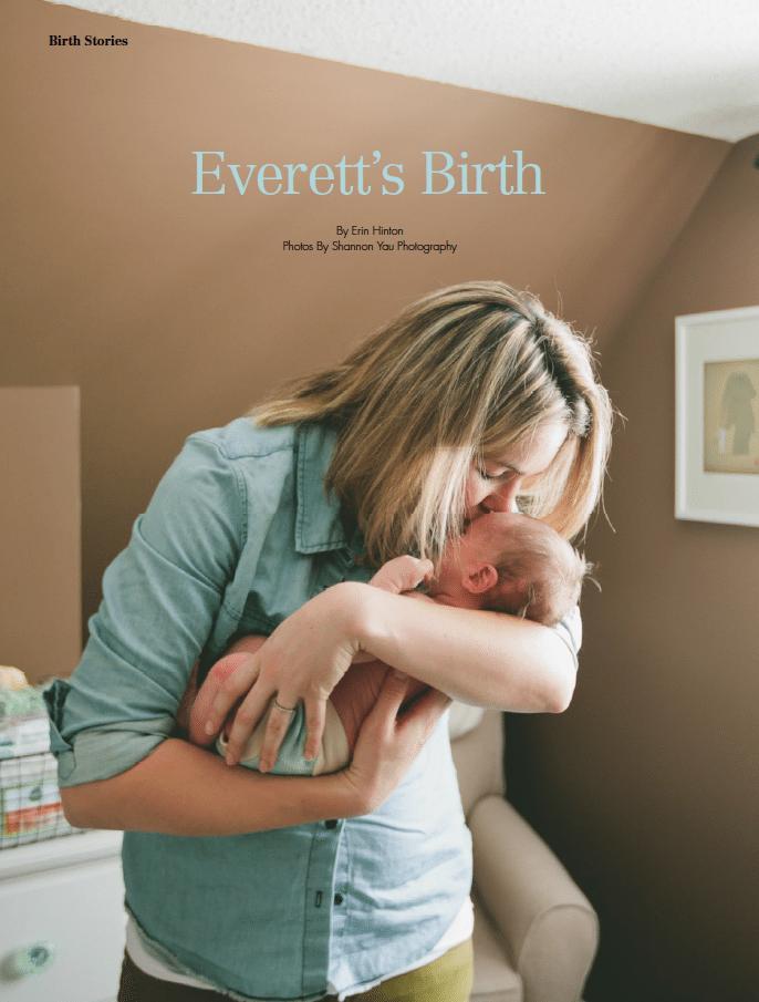 Birthing Magazine 2014 Spring Birth Story