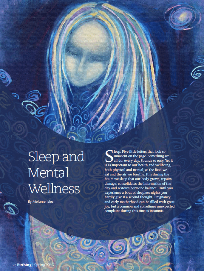 Birthing Magazine 2016 Spring Sleep and Mental Health