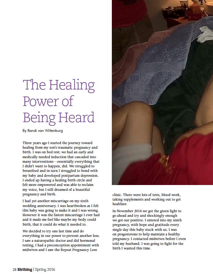 Birthing Magazine 2016 Spring Speak Up