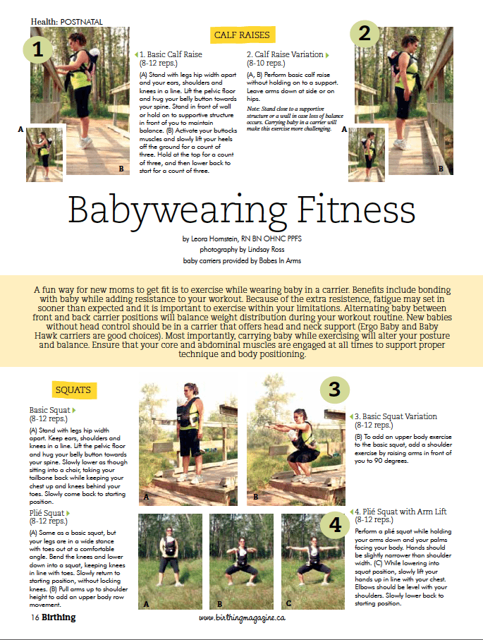 Birthing Magazine Fall 2010 Get In Shape