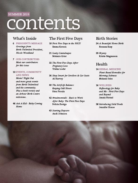 Page Preview 1 - Birthing Magazine - Summer 2019